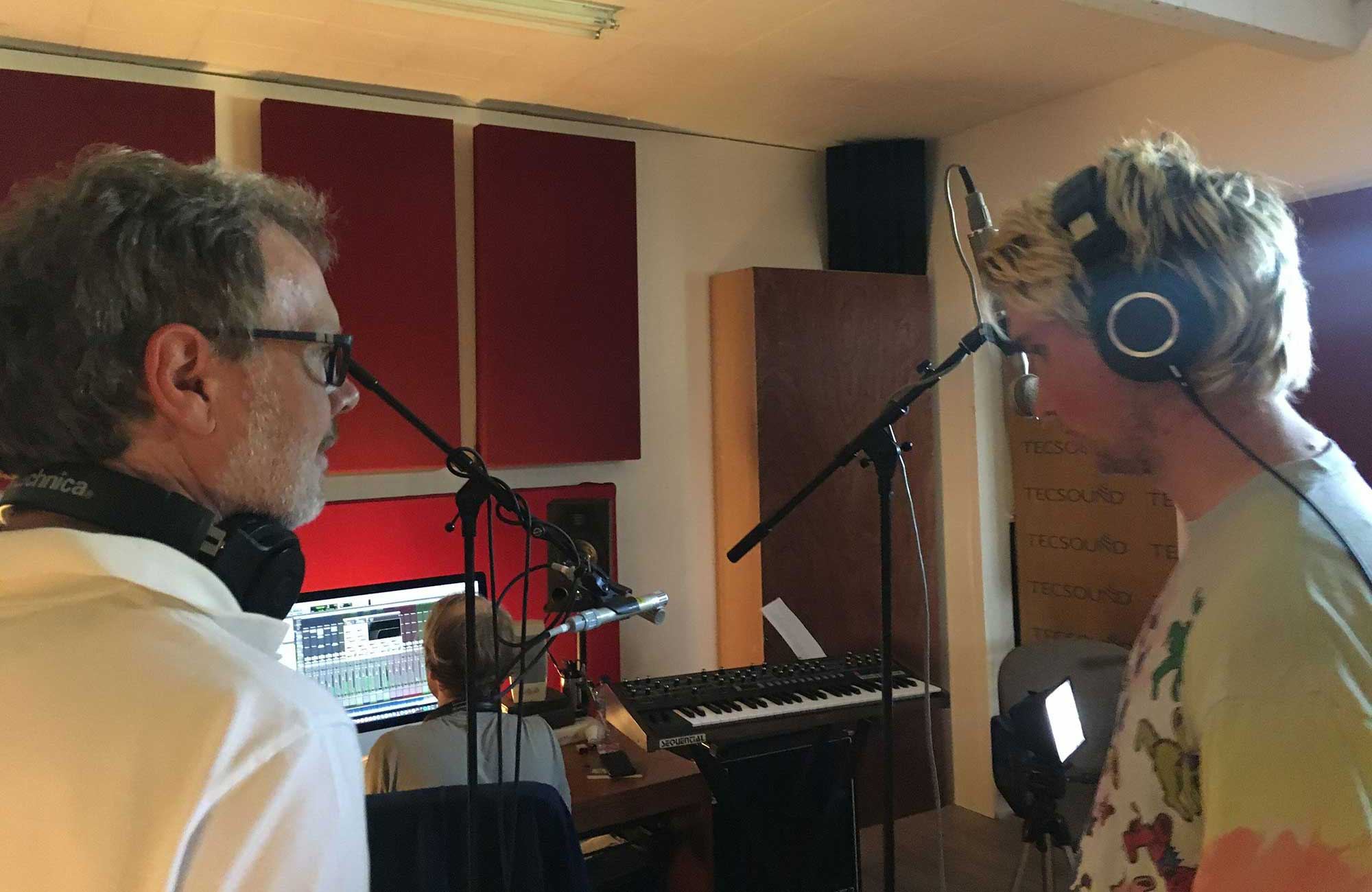 Rod and Finn in the Studio