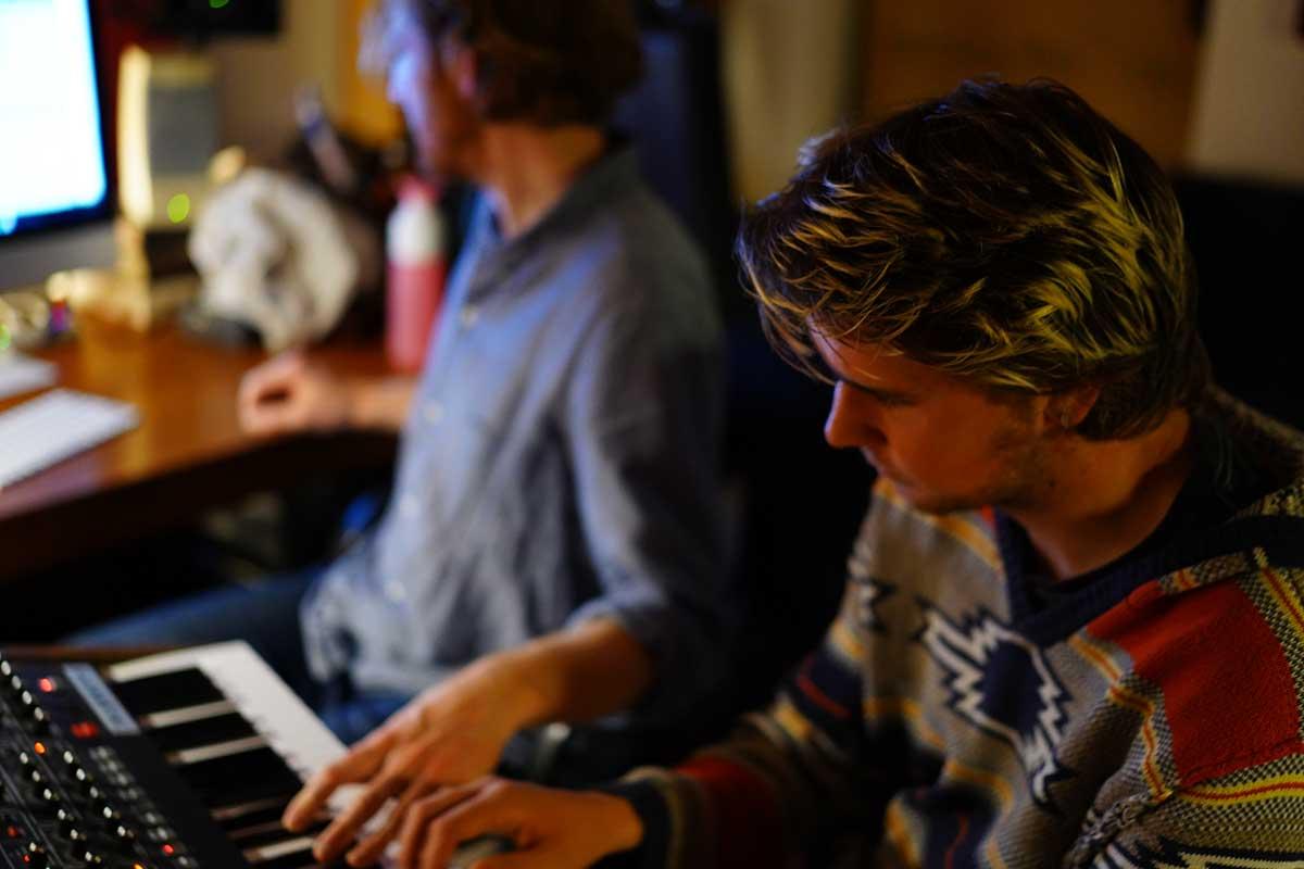 Keyboard in Studio