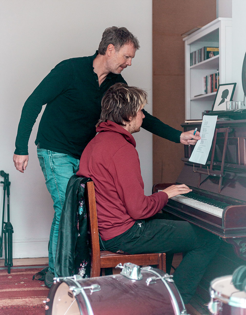 O'Reilly & Vincent writing at the piano